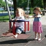 Kleinkinderschaukel mit Edelstahlketten