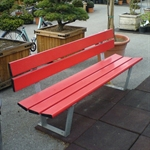 Sitzbank «Reiden», Aluminium rot