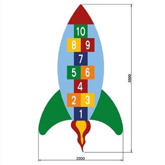 Bilder von Hüpfspiel «Rakete»