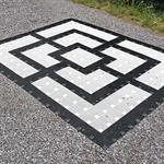 Mühlespielfläche schwarze Linien