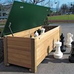 Holzkiste für Schachfiguren
