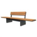 Bilder von Sitzbank «Tango» mit Rückenlehne
