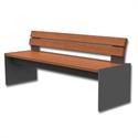 Bilder von Sitzbank «Phönix» mit Rückenlehne