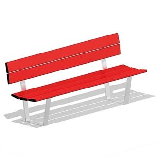 Bilder von Sitzbank «Reiden», Aluminium rot