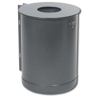 Bilder von Rund-Abfallbehälter mit Schiene